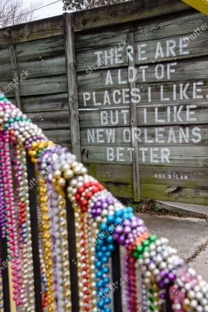 Editorial image of New Orleans Celebrates Mardi Gras 2021 During The Covid 19 Pandemic, New Orleans, USA - 15 Feb 2021