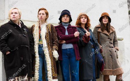 Stock Photo of Alexa Davies, Lily Newmark, Ruby Bentall, Jessie Buckley, Keira Knightley