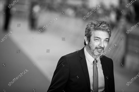 (EDITOR'S NOTE: Image was converted to black and white) Ricardo Darin attends the 'La Odisea de Los Giles (Heroic Losers)' Premiere during the 67th San Sebastian Film Festival in the northern Spanish Basque city of San Sebastian on September 23, 2019. (Photo by Manuel Romano/NurPhoto)