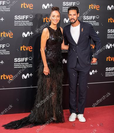 Dolores Chaplin and Stany Coppet attend the 'Mientras Dure La Guerra (While At War)' premiere during the 67th San Sebastian Film Festival in the northern Spanish Basque city of San Sebastian on September 21, 2019. (Photo by Manuel Romano/NurPhoto)