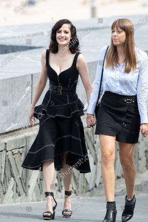 (L-R) Eva Green, Alice Winocour attend the 'Proxima' photocall during the 67th San Sebastian Film Festival in the northern Spanish Basque city of San Sebastian on September 21, 2019. (Photo by Manuel Romano/NurPhoto)