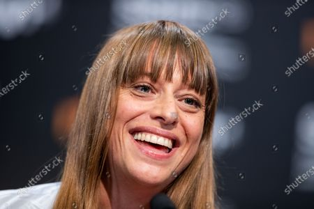 Alice Winocour attends the 'Proxima' press conference during the 67th San Sebastian Film Festival in the northern Spanish Basque city of San Sebastian on September 21, 2019. (Photo by Manuel Romano/NurPhoto)