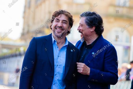 (L-R) Javier Bardem, Carlos Bardem attends the 'Sanctuary (Santuario)' Premiere during 67th San Sebastian Film Festival on September 26 , 2019 in San Sebastian, Spain.  (Photo by Manuel Romano/NurPhoto)