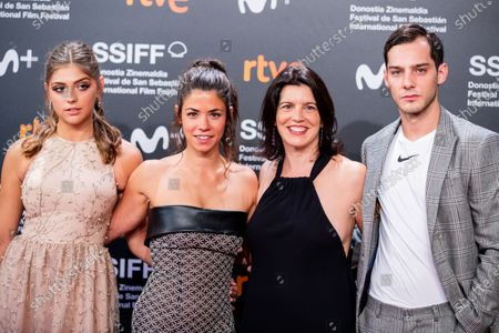 Stock Image of (L-R) Carmen Arrufat, Lucia Alemany, Laia Marrul and Joel Bosqued attends the 'The Other Lamb' Premiere during the 67th San Sebastian Film Festival in the northern Spanish Basque city of San Sebastian on September 23, 2019. (Photo by Manuel Romano/NurPhoto)