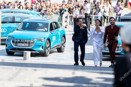 Gael Garcia Bernal, Penelope Cruz and Edgar Ramirez attend 'Wasp Network (La Red Avispa)' photocall during 67th San Sebastian International Film Festival on September 27, 2019 in San Sebastian, Spain. (Photo by Manuel Romano/NurPhoto)