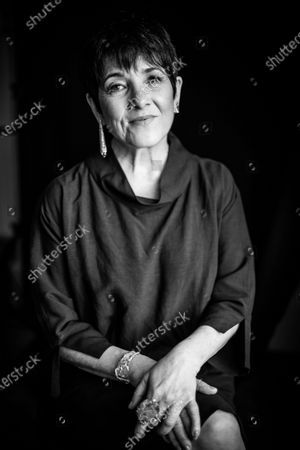 Stock Photo of (EDITOR'S NOTE: Image was converted to black and white) Paulina García poses during 67th San Sebastian Film Festival on September 26, 2019 in San Sebastian, Spain. (Photo by Manuel Romano/NurPhoto)