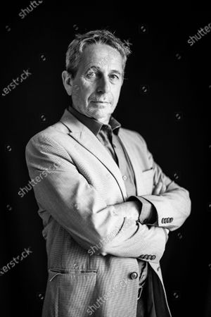 (EDITOR'S NOTE: Image was converted to black and white) Alfredo Castro poses during 67th San Sebastian Film Festival on September 26, 2019 in San Sebastian, Spain. (Photo by Manuel Romano/NurPhoto)