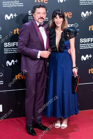 Spanish actor Carlos Bardem and Celia Blanco attends the Donostia Award red carpet during 67th San Sebastian International Film Festival on September 27, 2019 in San Sebastian, Spain.  (Photo by Manuel Romano/NurPhoto)