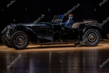 Stock Picture of Preview of Legend of the Road Sale featuring a 1937 Bugatti Type 57S (pictured - Estimate £5,000,000-7,000,000), one of the world's most valuable and desirable pre-war motor cars, which has been hidden for the past 50 years at Bonhams New Bond. Offered for the first time ever at auction, the rediscovered treasure will lead a sale on 19 February 2021. Owned by the likes of Sir Malcolm Campbell, of the 'Bluebird' world land and water speed records fame, only 42 examples of the 57S variants were produced and it was the fastest road car of its day. This special example - nicknamed 'Dulcie' due to its registration number 'DUL 351' - has been stored in the garage of its late owner, respected engineer Bill Turnbull, since 1969, and is now offered as an unfinished project, at no reserve.