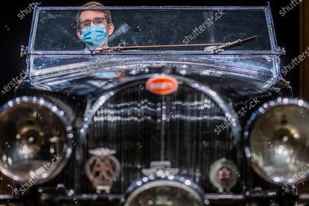 Editorial photo of Preview of Bonhams' Legend of the Road Sale, 1937 Bugatti Type 57S at New Bond Street., New Bond Street, London, UK - 16 Feb 2021