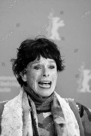 (EDITOR'S NOTE: Image was converted to black and white) Geraldine Chaplin attends the 'La Fiera Y La Fiesta' (Holy Beasts) photocall during the 69th Berlinale International Film Festival Berlin at Grand Hyatt Hotel on February 13, 2019 in Berlin, Germany.
