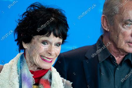 Geraldine Chaplin and Udo Kier attends the 'La Fiera Y La Fiesta' (Holy Beasts) photocall during the 69th Berlinale International Film Festival Berlin at Grand Hyatt Hotel on February 13, 2019 in Berlin, Germany.