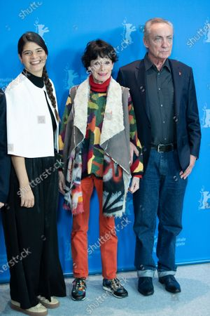 Laura Amelia Guzman, Geraldine Chaplin, Udo Kier attends the 'La Fiera Y La Fiesta' (Holy Beasts) photocall during the 69th Berlinale International Film Festival Berlin at Grand Hyatt Hotel on February 13, 2019 in Berlin, Germany.