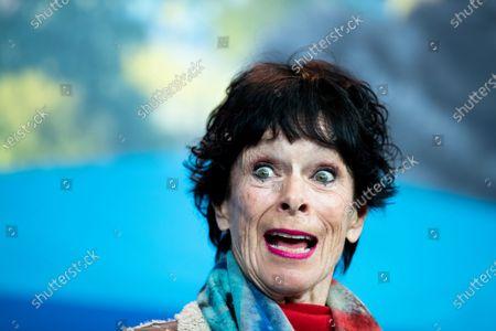 Stock Photo of Geraldine Chaplin attends the 'La Fiera Y La Fiesta' (Holy Beasts) Press Conference during the 69th Berlinale International Film Festival Berlin at Grand Hyatt Hotel on February 13, 2019 in Berlin, Germany.