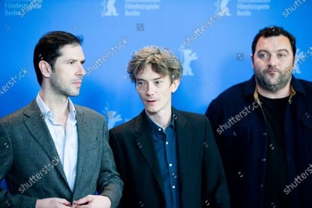 Melvil Poupaud, Swann Arlaud and Denis Menochet attends the 'By the Grace of God' (Grace a Dieu) photocall at the 69th Berlinale International Film Festival Berlin on February 8, 2019, in Berlin, Germany. The Berlin film festival will be running from February 7 to 17, 2019. Nearly 400 movies from around the world will be presented, with 17 vying for the prestigious Golden Bear top prize.
