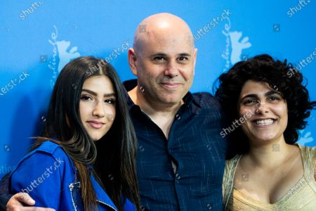 (L-R) Stav Patay, director Yaron Shani and Stav Almagor attends the 'Chained' Photocall at the 69th Berlinale International Film Festival Berlin on February 9, 2019, in Berlin, Germany. The Berlin film festival will be running from February 7 to 17, 2019. Nearly 400 movies from around the world will be presented, with 17 vying for the prestigious Golden Bear top prize. (Photo by Manuel Romano/NurPhoto)