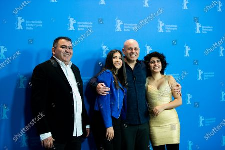 (L-R) Eran Naim, Stav Patay, director Yaron Shani and Stav Almagor attends the 'Chained' Photocall at the 69th Berlinale International Film Festival Berlin on February 9, 2019, in Berlin, Germany. The Berlin film festival will be running from February 7 to 17, 2019. Nearly 400 movies from around the world will be presented, with 17 vying for the prestigious Golden Bear top prize. (Photo by Manuel Romano/NurPhoto)
