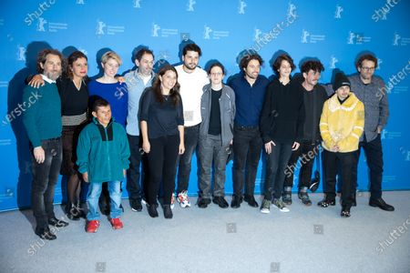 (L-R) Nicolas Avruj, Leontine Petit, Wilson Salazar, Katrin Pors, unknown, Cristina Landes, Santiago Zapata, Mica Levi, Alejandro Landes, Sofia Buenaventura, Alexis Dos Santos, Moises Arias and Fernando Epstein attends the 'Monos' Photocall at the 69th Berlinale International Film Festival Berlin on February 10, 2019, in Berlin, Germany. The Berlin film festival will be running from February 7 to 17, 2019. Nearly 400 movies from around the world will be presented, with 17 vying for the prestigious Golden Bear top prize.