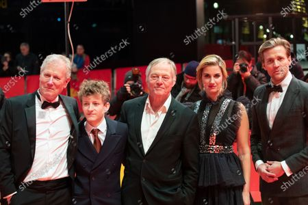 Stock Image of Director Hans Petter Moland, Jon Ranes, Danica Curcic, Bjorn Floberg and Tobias Santelmann attends the 'Out Stealing Horses' Premiere at the 69th Berlinale International Film Festival Berlin on February 9, 2019, in Berlin, Germany. The Berlin film festival will be running from February 7 to 17, 2019. Nearly 400 movies from around the world will be presented, with 17 vying for the prestigious Golden Bear top prize.