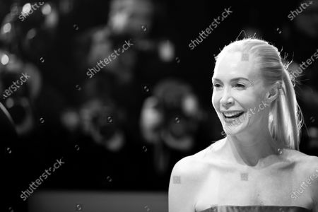 Stock Photo of (EDITOR'S NOTE: Image was converted in black and white) Feo Aladag attends the 'The Kindness Of Strangers' Red Carpet at the 69th Berlinale International Film Festival Berlin on February 7, 2019, in Berlin, Germany. The Berlin film festival will be running from February 7 to 17, 2019. Nearly 400 movies from around the world will be presented, with 17 vying for the prestigious Golden Bear top prize.