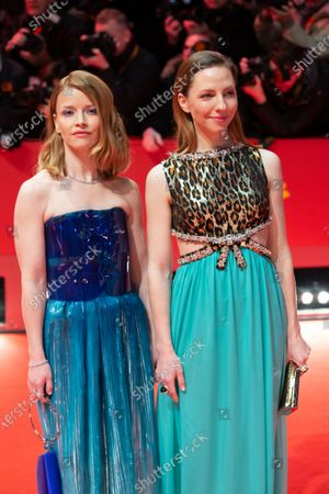 (R-L) Katharina Schuettler and Karoline Schuch attends the 'The Kindness Of Strangers' Red Carpet at the 69th Berlinale International Film Festival Berlin on February 7, 2019, in Berlin, Germany. The Berlin film festival will be running from February 7 to 17, 2019. Nearly 400 movies from around the world will be presented, with 17 vying for the prestigious Golden Bear top prize.