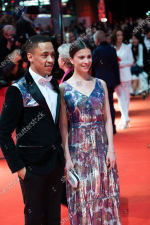 Jerry Hoffmann (L) and Aylin Tezel attends the 'The Kindness Of Strangers' Red Carpet at the 69th Berlinale International Film Festival Berlin on February 7, 2019, in Berlin, Germany. The Berlin film festival will be running from February 7 to 17, 2019. Nearly 400 movies from around the world will be presented, with 17 vying for the prestigious Golden Bear top prize.