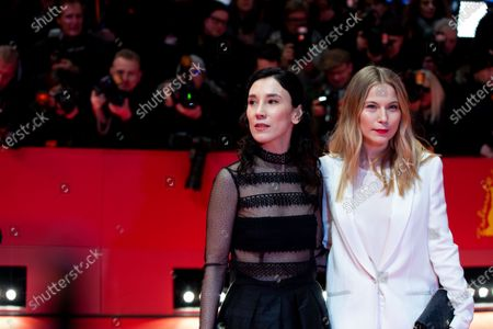 Sibel Kekilli (L) and Nora von Waldstatten attends the 'The Kindness Of Strangers' Red Carpet at the 69th Berlinale International Film Festival Berlin on February 7, 2019, in Berlin, Germany. The Berlin film festival will be running from February 7 to 17, 2019. Nearly 400 movies from around the world will be presented, with 17 vying for the prestigious Golden Bear top prize.