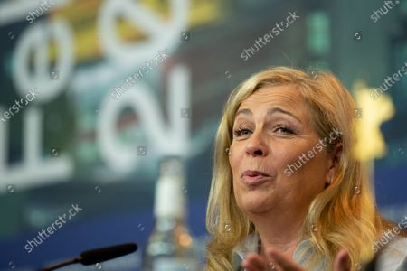 """Stock Picture of Lone Scherfig attends the """"The Kindness Of Strangers"""" Press Conference at the 69th Berlinale International Film Festival Berlin at Grand Hyatt Hotel on February 7, 2019, in Berlin, Germany. The Berlin film festival will be running from February 7 to 17, 2019. Nearly 400 movies from around the world will be presented, with 17 vying for the prestigious Golden Bear top prize."""