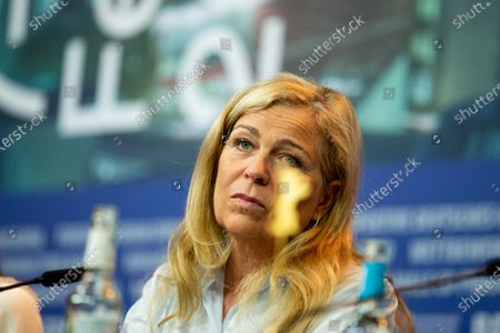 """Stock Image of Lone Scherfig attends the """"The Kindness Of Strangers"""" Press Conference at the 69th Berlinale International Film Festival Berlin at Grand Hyatt Hotel on February 7, 2019, in Berlin, Germany. The Berlin film festival will be running from February 7 to 17, 2019. Nearly 400 movies from around the world will be presented, with 17 vying for the prestigious Golden Bear top prize."""
