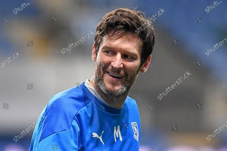 Stock Image of Portrait of a smiling Tranmere Rovers forward (on loan from Preston North End) David Nugent (28) during the EFL Trophy match between Oxford United and Tranmere Rovers at the Kassam Stadium, Oxford
