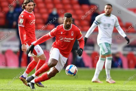 Stock Photo of Cafu (18) of Nottingham Forest in action during the Sky Bet Championship match between Nottingham Forest and Bournemouth at the City Ground, Nottingham on Saturday 13th February 2021.  (Photo by Jon Hobley/MI News/NurPhoto)