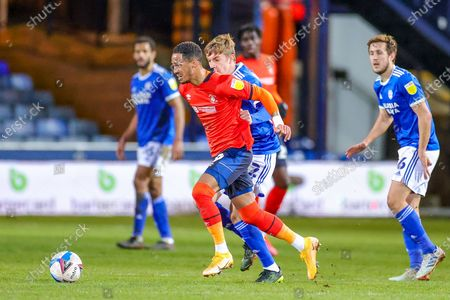 Thomas Ince (39) of Luton Town during the EFL Sky Bet Championship match between Luton Town and Cardiff City at Kenilworth Road, Luton