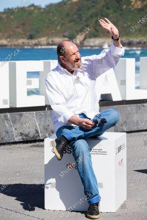Stock Image of Josep Maria Pou attends the 'El Reino' Photocall during the 66th San Sebastian Film Festival in San Sebastian on September 22, 2018 in San Sebastian, Spain.