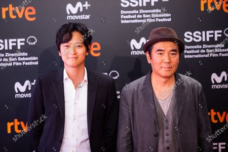 Director Jee-woon Kim (R) and actor Gang Dong-Won attends the 'Illang: The Wolf Brigade' Premiere during the 66th San Sebastian International Film Festival on September 26, 2018 in San Sebastian, Spain.