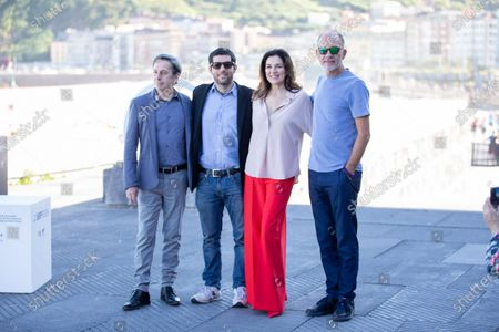 (L-R) Alfredo Castro Gomez, Benjamn Naishtat, Andrea Frigerio, Daro Grandinetti attends the 'Rojo' Photocall during the 66th San Sebastian International Film Festival on September 23, 2018 in San Sebastian, Spain.