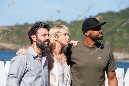 (L-R) Miquel Fernandez, Ingrid Garca-Jonsson, El Chojin attends the 'Smallfoot' Photocall during the 66th San Sebastian Film Festival in San Sebastian on September 22, 2018 in San Sebastian, Spain.