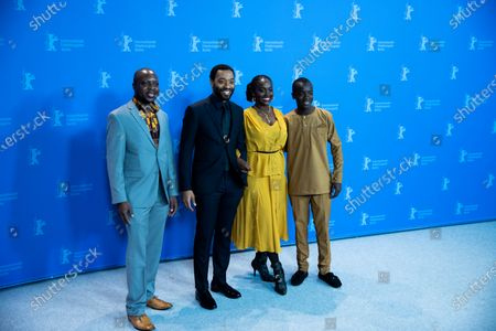 (L-R) Author William Kamkwamba, director Chiwetel Ejiofor, and actors Aissa Maiga and Maxwell Simba attends the photocall for the Netflix film 'The Boy Who Harnessed The Wind' during the 69th Berlinale International Film Festival Berlin at Grand Hyatt Hotel on February 12, 2019 in Berlin, Germany.  (Photo by Manuel Romano/NurPhoto)
