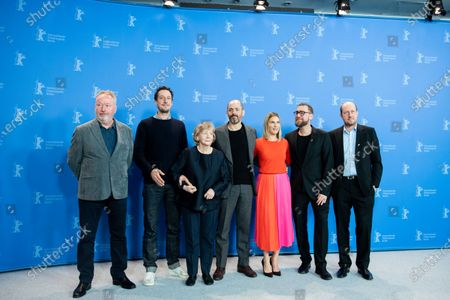 Raimond Goebel, Hans Lw, Christine Schorn, Edward Berger, Nele Mueller-Stfen, Jan Krger and Jrg Trentmann attends the 'All My Loving' Photocall at the 69th Berlinale International Film Festival Berlin on February 9, 2019, in Berlin, Germany. The Berlin film festival will be running from February 7 to 17, 2019. Nearly 400 movies from around the world will be presented, with 17 vying for the prestigious Golden Bear top prize. (Photo by Manuel Romano/NurPhoto)