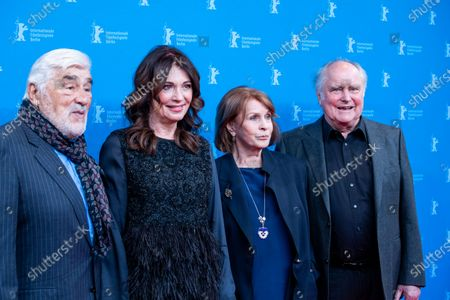 Stock Photo of German actors Mario Adorf, Iris Berben, Senta Berger and German director Michael Verhoeven  attends the 'Brecht Premiere at the 69th Berlinale International Film Festival Berlin on February 9, 2019, in Berlin, Germany. The Berlin film festival will be running from February 7 to 17, 2019. Nearly 400 movies from around the world will be presented, with 17 vying for the prestigious Golden Bear top prize. (Photo by Manuel Romano/NurPhoto)