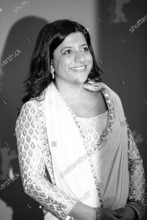 (EDITOR'S NOTE: Image was converted to black and white) Zoya Akhtar attends the 'Gully Boy' Photocall at the 69th Berlinale International Film Festival Berlin on February 9, 2019, in Berlin, Germany. The Berlin film festival will be running from February 7 to 17, 2019. Nearly 400 movies from around the world will be presented, with 17 vying for the prestigious Golden Bear top prize. (Photo by Manuel Romano/NurPhoto)