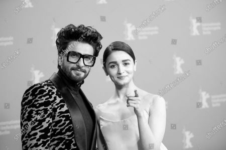 Ranveer Singh and Alia Bhatt attend the 'Gully Boy' Photocall at the 69th Berlinale International Film Festival Berlin on February 9, 2019, in Berlin, Germany. The Berlin film festival will be running from February 7 to 17, 2019. Nearly 400 movies from around the world will be presented, with 17 vying for the prestigious Golden Bear top prize. (Photo by Manuel Romano/NurPhoto)