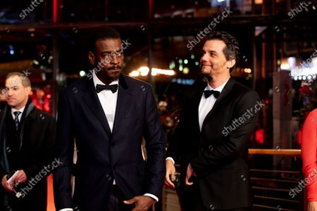 Seu Jorge and Wagner Moura attends the 'Marighella' Premiere during the 69th Berlinale International Film Festival Berlin at Grand Hyatt Hotel on February 15, 2019 in Berlin, Germany.  (Photo by Manuel Romano/NurPhoto)