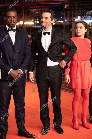Seu Jorge, Wagner Moura and Bella Camero attends the 'Marighella' Premiere during the 69th Berlinale International Film Festival Berlin at Grand Hyatt Hotel on February 15, 2019 in Berlin, Germany.  (Photo by Manuel Romano/NurPhoto)