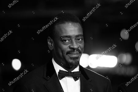 (EDITOR'S NOTE: Image was converted to black and white) Seu Jorge attends the 'Marighella' Premiere during the 69th Berlinale International Film Festival Berlin at Grand Hyatt Hotel on February 15, 2019 in Berlin, Germany.  (Photo by Manuel Romano/NurPhoto)