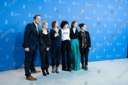 (L-R) Alexander Glehr, Mavie Hoerbiger, Pia Hierzegger, Marie Kreutzer, Valerie Pachner attends the 'The Ground Beneath My Feet' Photocall  at the 69th Berlinale International Film Festival Berlin on February 9, 2019, in Berlin, Germany. The Berlin film festival will be running from February 7 to 17, 2019. Nearly 400 movies from around the world will be presented, with 17 vying for the prestigious Golden Bear top prize. (Photo by Manuel Romano/NurPhoto)