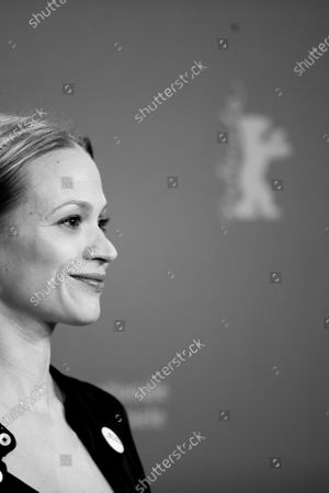 (EDITOR'S NOTE: Image was converted in black and white) Mavie Hoerbiger attends the 'The Ground Beneath My Feet' Photocall  at the 69th Berlinale International Film Festival Berlin on February 9, 2019, in Berlin, Germany. The Berlin film festival will be running from February 7 to 17, 2019. Nearly 400 movies from around the world will be presented, with 17 vying for the prestigious Golden Bear top prize. (Photo by Manuel Romano/NurPhoto)