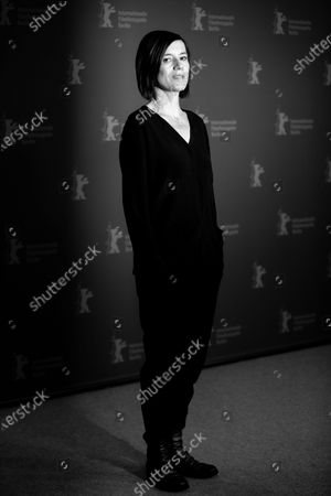 Stock Picture of (EDITOR'S NOTE: Image was converted in black and white) Pia Hierzegger attends the 'The Ground Beneath My Feet' Photocall  at the 69th Berlinale International Film Festival Berlin on February 9, 2019, in Berlin, Germany. The Berlin film festival will be running from February 7 to 17, 2019. Nearly 400 movies from around the world will be presented, with 17 vying for the prestigious Golden Bear top prize. (Photo by Manuel Romano/NurPhoto)