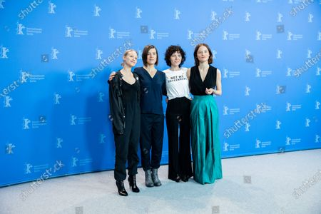 Mavie Hoerbiger, Pia Hierzegger, Marie Kreutzer and Valerie Pachner attend the 'The Ground Beneath My Feet' Photocall  at the 69th Berlinale International Film Festival Berlin on February 9, 2019, in Berlin, Germany. The Berlin film festival will be running from February 7 to 17, 2019. Nearly 400 movies from around the world will be presented, with 17 vying for the prestigious Golden Bear top prize. (Photo by Manuel Romano/NurPhoto)