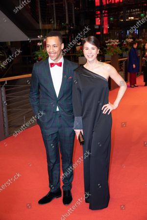 (L-R) German actor Jerry Hoffmann and German actress Aylin Tezel arrives for the closing ceremony of the 69th Berlinale International Film Festival Berlin at Berlinale Palace on February 16, 2019 in Berlin, Germany.  (Photo by Manuel Romano/NurPhoto)