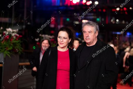Stock Photo of Martina Gedeck (L) and Markus Imboden  arrives for the closing ceremony of the 69th Berlinale International Film Festival Berlin at Berlinale Palace on February 16, 2019 in Berlin, Germany.  (Photo by Manuel Romano/NurPhoto)